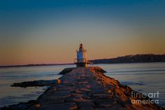"""""""Sunrise Over Casco Bay""""  #sunrise #cascobay #portland #maine #thewaylifeshouldbe #vacationland #newengland #Lighthouse #springpointledgelight #southernmaine #Northernnewengland #color #colorphotography #nature #landscape #naturephotography #landscapephotography #photographyforsale #photography #photo #picture #photographyforsale"""