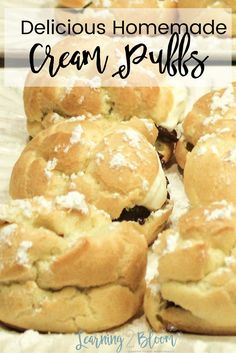 Make your own delicious homemade cream puffs. Make your own cream puffs for a great dessert with your family at home. your kids will love them