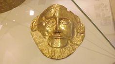 """Αντίγραφο της """"προσωπίδας του Αγαμέμνονα"""" - Μουσείο Μυκηνών"""