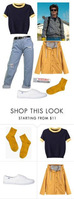 """Stranger Things Steve Harrington Inspired🕶"" by lydia-hayley ❤ liked on Polyvore featuring Madewell, WithChic and Burt's Bees"
