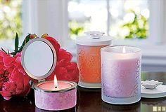 #PartyLite Blossom Collection candles, holders and spring fragrances