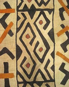 African Beauty around here which means time for another favorite fabric & pattern find. Today gonna be the African Kuba Cloth that only discovered recently. Kuba cloths are African tribal fabrics that Arte Tribal, Tribal Art, Tribal Prints, Design Textile, Textile Patterns, Floral Patterns, African Textiles, African Fabric, African Tribal Patterns