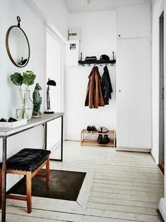 hooks, bench, storage