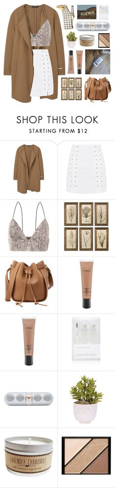 """Untitled #2938"" by tacoxcat ❤ liked on Polyvore featuring MANGO, Topshop, Rare London, Uttermost, MAC Cosmetics, Forever New, Beats by Dr. Dre, Lux-Art Silks and Elizabeth Arden"
