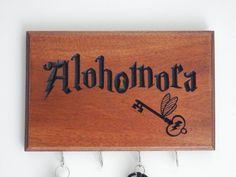 Harry Potter Alohomora Key Holder by WoodDesigns4You on Etsy