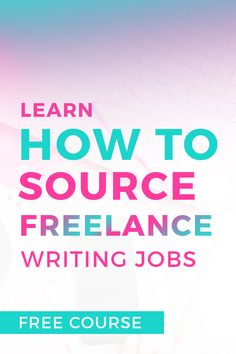 Interested in becoming a freelance writer and making money from home? This is the perfect course for beginner and expert writers looking to kickstart their freelance writing careers. It's filled with actionable tips and advice to help you build your business asap! Learn how to source jobs, pick your writing niche(s), build your portfolio, and pitch potential clients. Click through to sign up for the FREE 5 day email course and start your freelance writing journey today! #aff