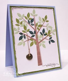 the sweetest thing...: every tree needs a tire swing using Stampin Up Season of Friendship