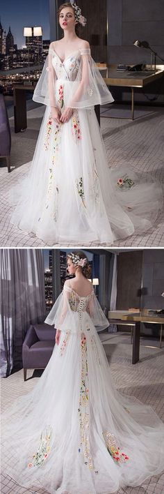 without the bell sleeves, this would be a perfect wedding dress