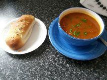Moroccan Lentil Soup with Ham, Cheese and Onion Scrolly Rolls  -  Thermomix EDC (soup) and Thermomix Recipe Community (rolls)