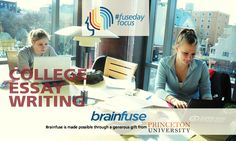 #fuseday The focus this week is on the College Application Essay Writing and Review tool offered in the Brainfuse's SkillShare module. http://bit.ly/FusedayCollege