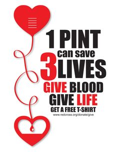 Give Blood Poster by Victoria Bakunoff