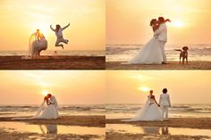 Anja zeigt bei ihrer traumhaften Strandhochzeit, dass man sich mit einem Brautkleid am Strand ganz ungezwungen austoben kann ...