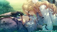 Piofiore no Banshou ( PS Vita ) Anime Couples Manga, Cute Anime Couples, Anime Guys, Manga Anime, Anime Art, Couple Cartoon, Art Drawings Sketches, Poses, Anime Style