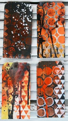 cool Halloween tags by Julie Balzer