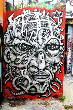 Nosbe - Street art - paris 20, vingtième théâtre (juin 2013)