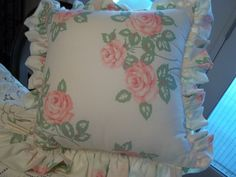 Pillow Cottage Chic Pillow Floral Pillow Toss by SuzyQsVintageShop, $16.75