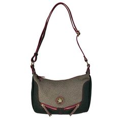 Bolso crossbody de pu con cierre de cremallera, 2 bolsillos exteriores, bolsillo trasero e interior.  Medidas: 27x18x10