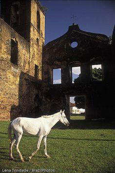 Ruins of the Matriz de São Mathias church ( Saint Mathis Church ruins ), Alcântara, Maranhão, Brazil.