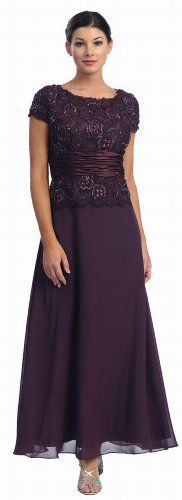 US Fairytailes Women's Mother Of the Bride Formal Dress
