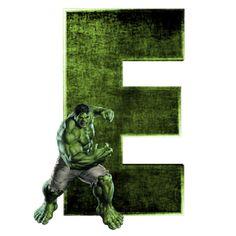 Alphabets by Mônica Michielin Hulk Marvel, Marvel Art, Captain Marvel, Ms Marvel, Marvel Comics, Avengers Room, Avengers Birthday, Hulk Png, Arte Do Hulk