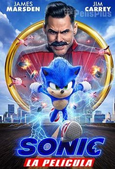 Sonic the Hedgehog Movie Poster Glossy High Quality Print Photo Wall Art James Marsden Jim Carrey Si Sonic The Hedgehog, Hedgehog Movie, Hedgehog Box, Jim Carrey, Tv Series Online, Tv Shows Online, Movies Online, Streaming Vf, Streaming Movies