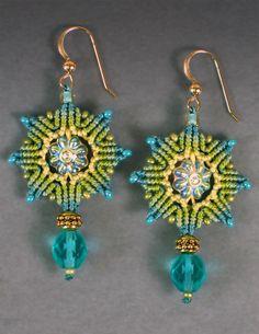 OMG, something new to try!   Micro-Macrame earrings