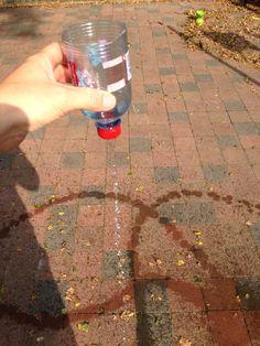 Write Dance in the early years: 2 krangeli krangeli walk with a bottle of water to create a path - drill hole in lid