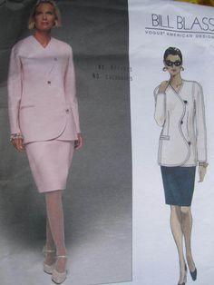 Bill Blass Jacket & Skirt American Designer Vogue 1706 Pattern Sz. 20 - 24