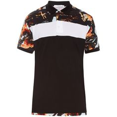 Givenchy Columbian-fit rooster-print polo shirt ($423) ❤ liked on Polyvore featuring men's fashion, men's clothing, men's shirts, men's polos, mens print shirts, mens white shirt, givenchy mens shirt, mens patterned shirts and mens oversized shirt
