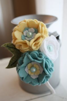 Handmade Felt Flower Headband Buttercup by BlessingLaneBoutique, $12.00