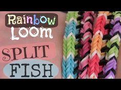 Rainbow Loom : Split Fish Bracelet – Original Design – How To