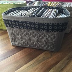 Fabric basket with lovely quilting