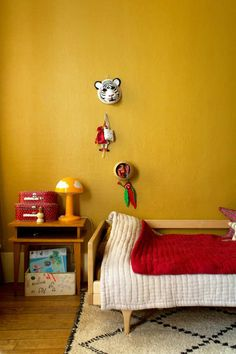 Bright Mustard Room   10 Lovely Little Boys Rooms Part 5 - Tinyme Blog