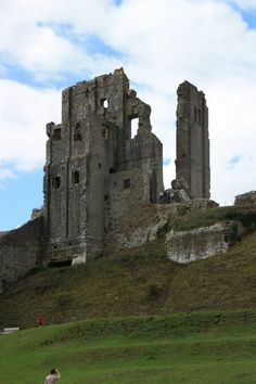 Corfe castle main towers by CAStock on DeviantArt Staffordshire Uk, Castle Drawing, Corfe Castle, Scottish Castles, Castle Ruins, Abandoned Castles, Medieval, Cathedral, Places To Go