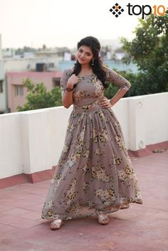 Indian hot actress sexy pictures : Athulya ravi actress latest sexy pictures and cute pictures Frock Patterns, Gown Pattern, Frock Fashion, Fashion Dresses, Women's Fashion, Indian Gowns Dresses, Girls Dresses, Indian Designer Outfits, Designer Dresses