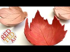 Leaf Bowl DIY - Easy Fall Crafts - Air Drying Clay How To - YouTube