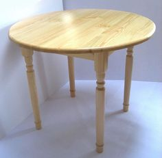 wazony small solid pine wooden round kitchen dining quality table various colours sizes