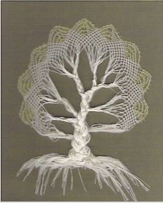 Bobbin lace tree - from Jung at Heart Blog - http://www.jung-at-heart.com/knitting/knitting_archive_september_.html#