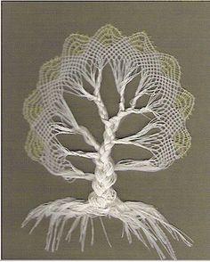 Bobbin lace tree - from Jung at Heart Blog - http://www.jung-at-heart.com/knitting/knitting_archive_september_.html#