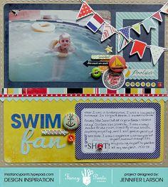 Layout: Swim Fan *Fancy Pants Designs*