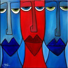 Art: The Devil Inside - Faces 508 by Artist Thomas C. Fedro