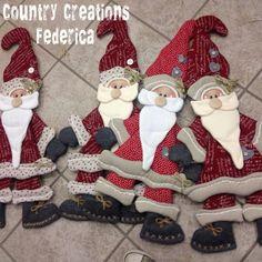 Felt Christmas santas