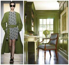 PANTONE CYPRESS - Office Workspace - SS15 - Fashion & Decor Collage - Lynda Quintero-Davids