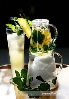 Apple Ginger Mint Iced Tea ~ http://steamykitchen.com