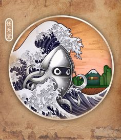 THE GREAT WAVE Art Print from Tim Shumate