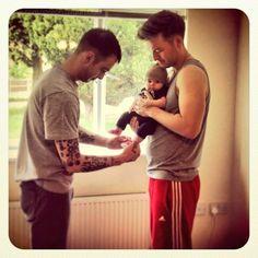 Joe, Matt and Nathan McMullen's baby