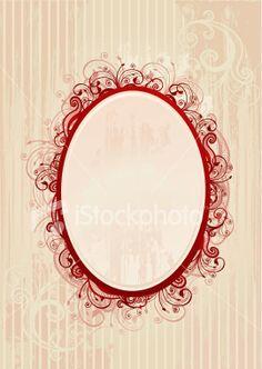 LOVE this filigree oval frame for my truffela tree