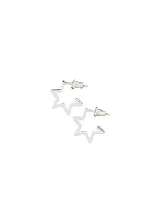 Our signature star shaped star shaped hoops are essential for any ear-day wear available in gold, rose gold & silver. Star Shape, Earring Backs, Stargazing, Hoop Earrings, Rose Gold, Toy, Jewels, Stars, Silver