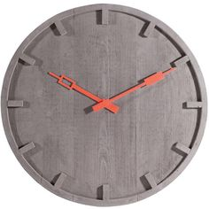 Out There Interiors Concrete Wall Clock ($275) ❤ liked on Polyvore featuring home, home decor and clocks