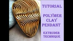 DIY|Embossed pattern from polymer clay Part 2 | PENDANT